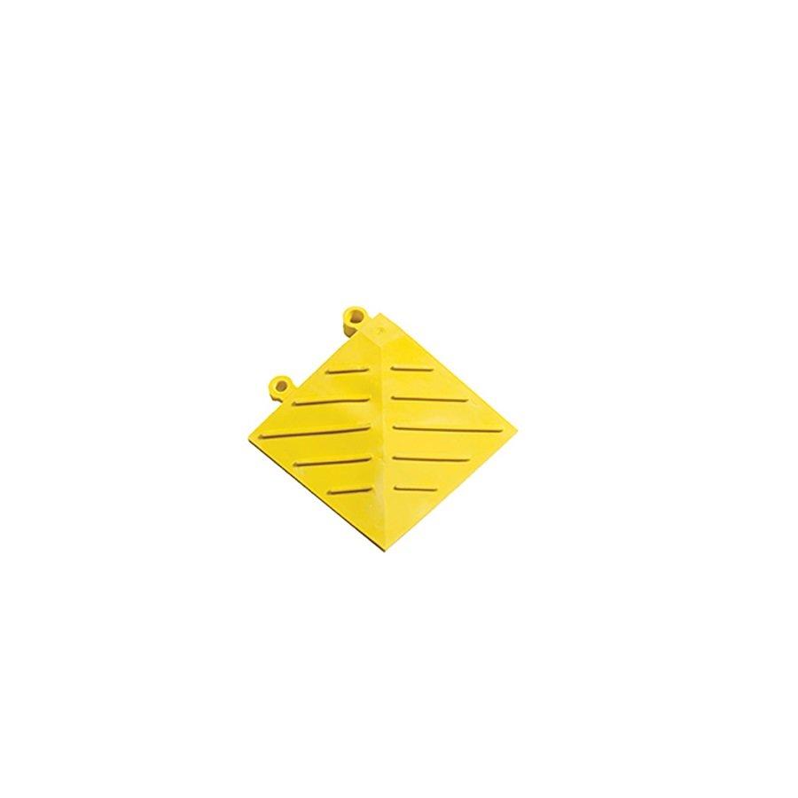 Žlutá náběhová hrana (roh) Diamond FL Safety Ramp - délka 15 cm a šířka 15 cm