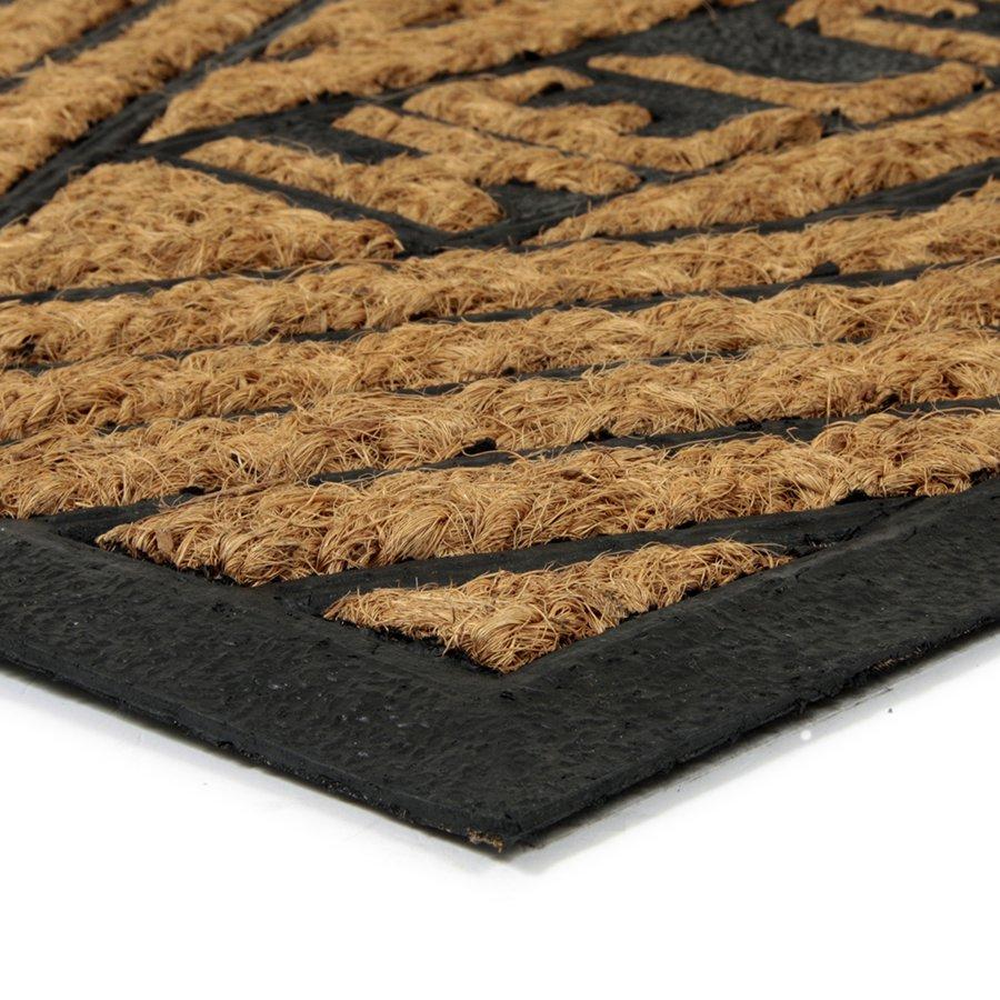 Kokosová čistící venkovní vstupní rohož Welcome - Rectangle, FLOMAT - délka 45 cm, šířka 75 cm a výška 0,8 cm