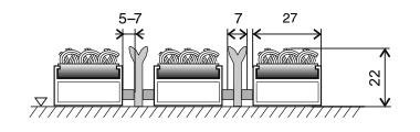 Textilní hliníková kartáčová vnitřní vstupní rohož Alu Extra, FLOMAT, 02 - délka 100 cm, šířka 100 cm a výška 2,2 cm