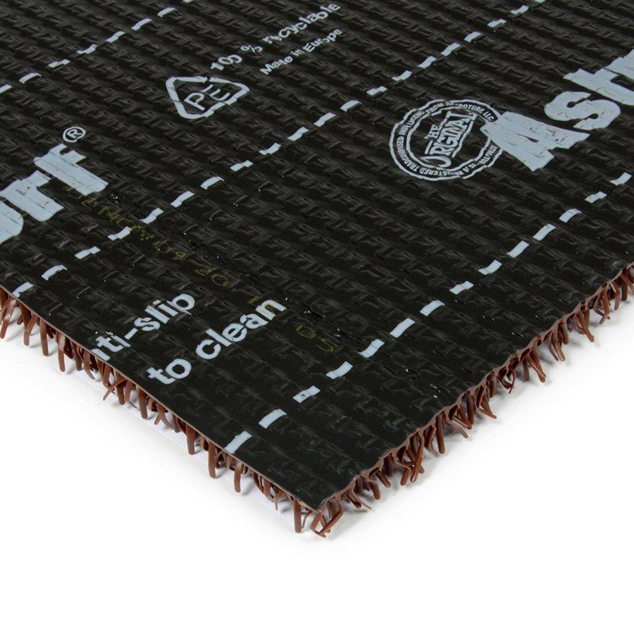 Světle hnědá plastová vstupní univerzální čistící metrážová rohož Astra, FLOMA - šířka 91 cm a výška 1,8 cm