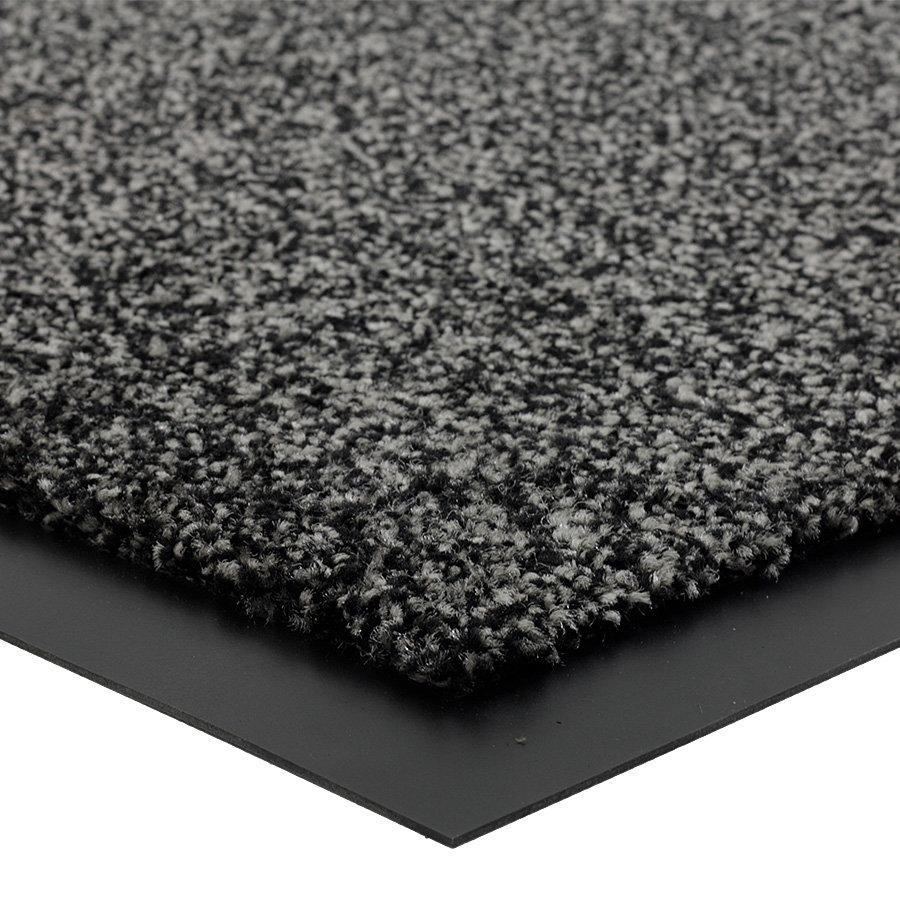 Šedá metrážová čistící vnitřní vstupní rohož Briljant, FLOMA (Bfl-S1) - délka 1 cm a výška 0,9 cm