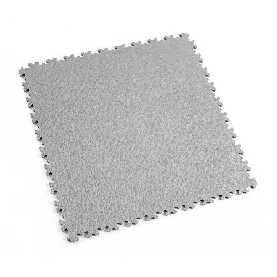Šedá vinylová plastová dlaždice Fortelock Light 2060 (kůže) - délka 51 cm, šířka 51 cm a výška 0,7 cm
