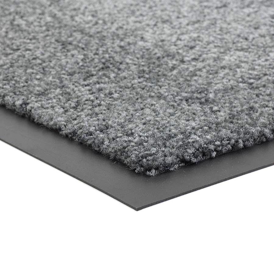 Šedá čistící vnitřní pratelná vstupní rohož FLOMA Twister - výška 0,8 cm