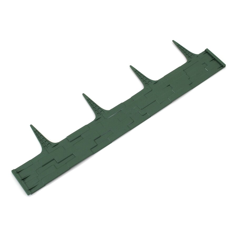 Zelený plastový palisádový zahradní obrubník FLOMA Stone - délka 80 cm a výška 8 cm