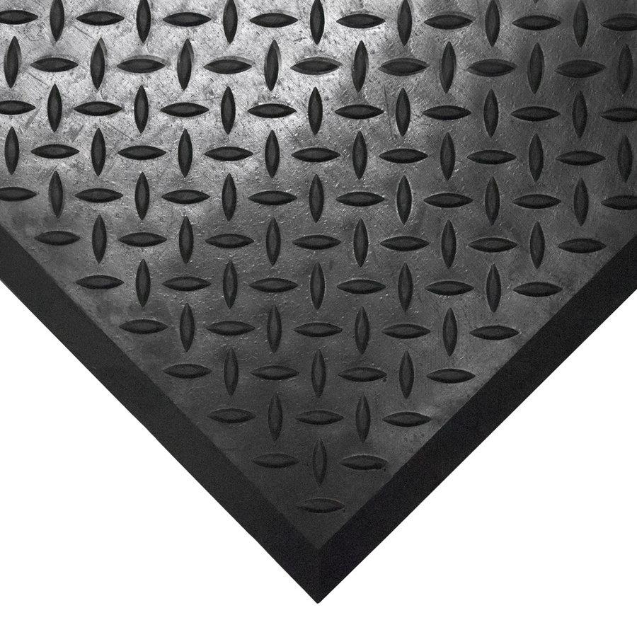Černá gumová protiskluzová průmyslová modulární rohož Comfort-Lok - délka 80 cm, délka 70 cm a výška 1,25 cm