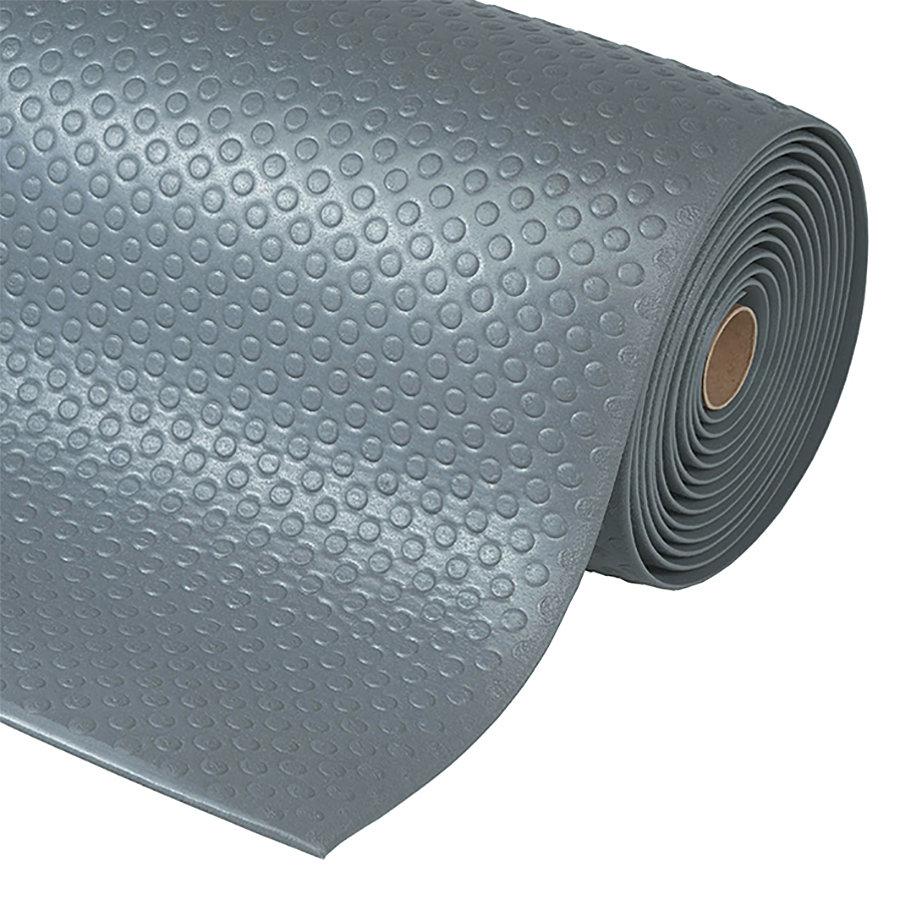 Šedá metrážová protiúnavová průmyslová rohož Bubble, Sof-Tred - délka 1 cm a výška 1,27 cm