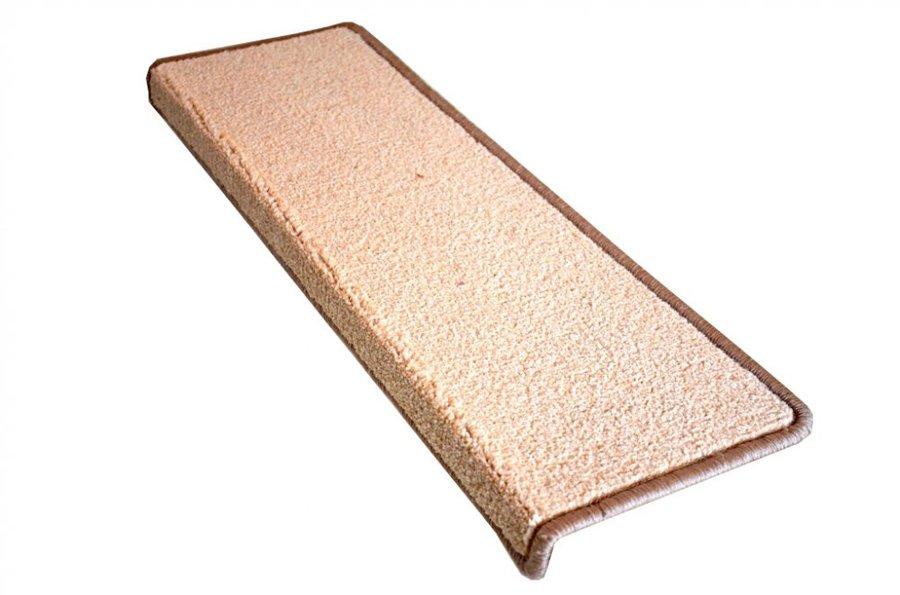 Béžový kobercový nášlap na schody Eton - délka 24 cm a šířka 65 cm