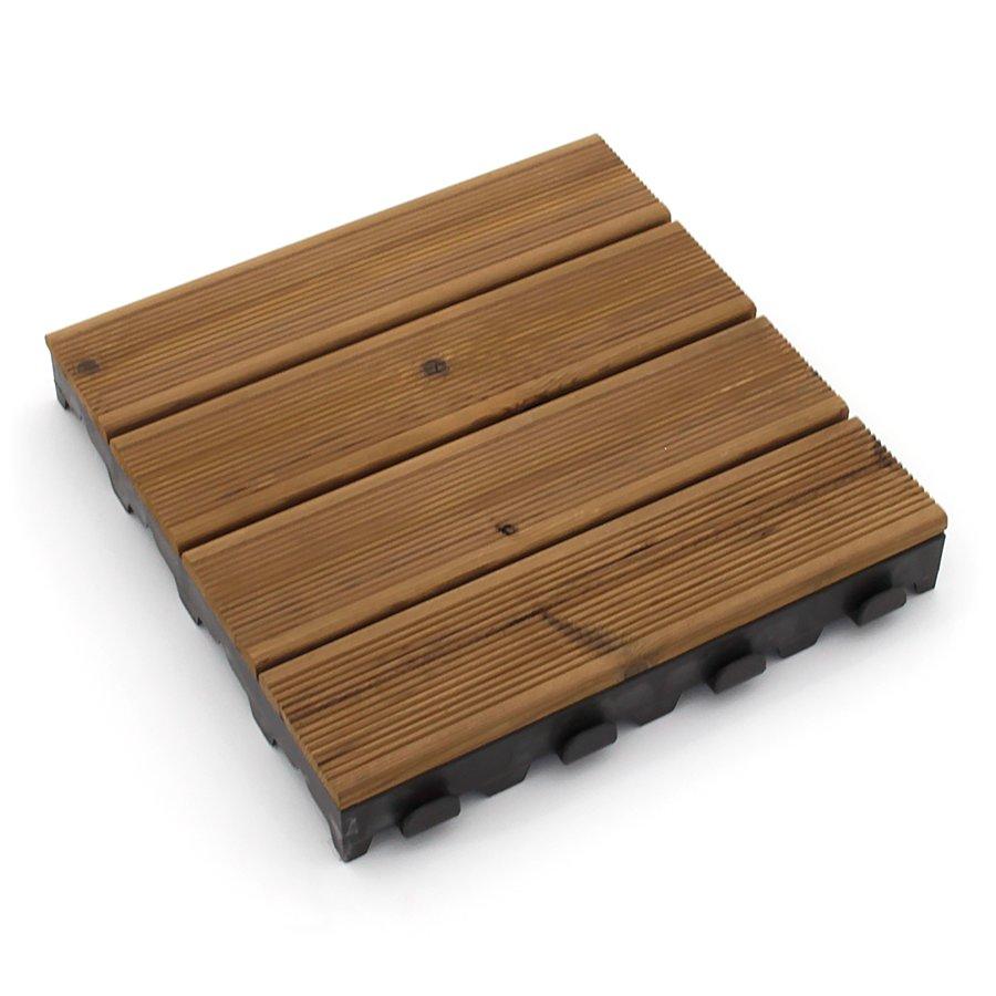 Dřevěná terasová dlažba Linea Combi-Wood - délka 40 cm, šířka 40 cm a výška 6,5 cm