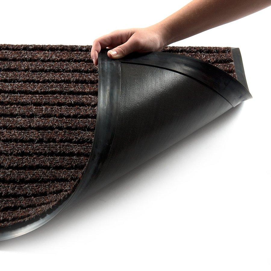 Hnědá textilní vstupní vnitřní čistící zátěžová rohož Shakira, FLOMA - délka 150 cm, šířka 100 cm a výška 1,6 cm