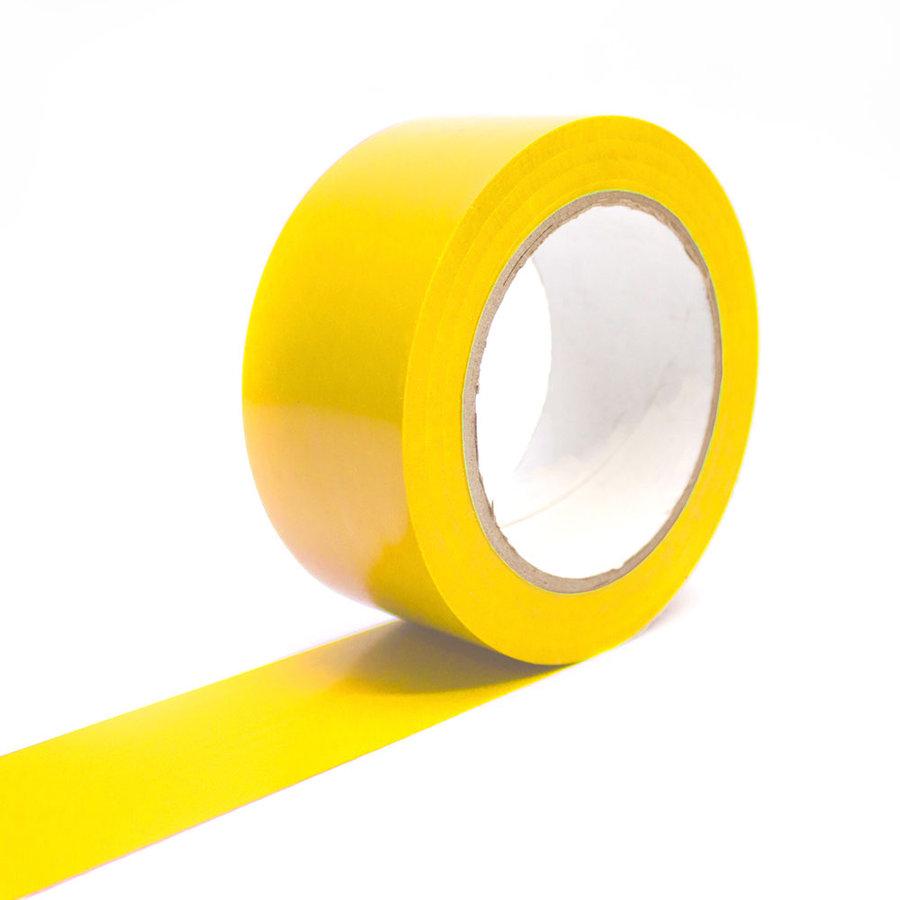 Žlutá vyznačovací samolepící podlahová páska - délka 33 m a šířka 5 cm