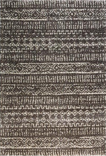 Hnědý kusový moderní koberec Lana - délka 200 cm a šířka 135 cm