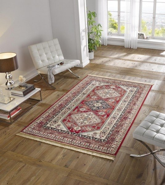 Červený kusový orientální koberec Majestic - délka 300 cm a šířka 200 cm