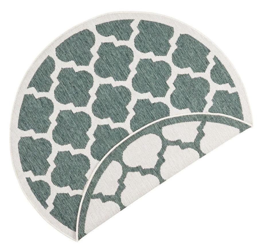 Zelený oboustranný moderní kulatý koberec Twin-Supreme, Palermo