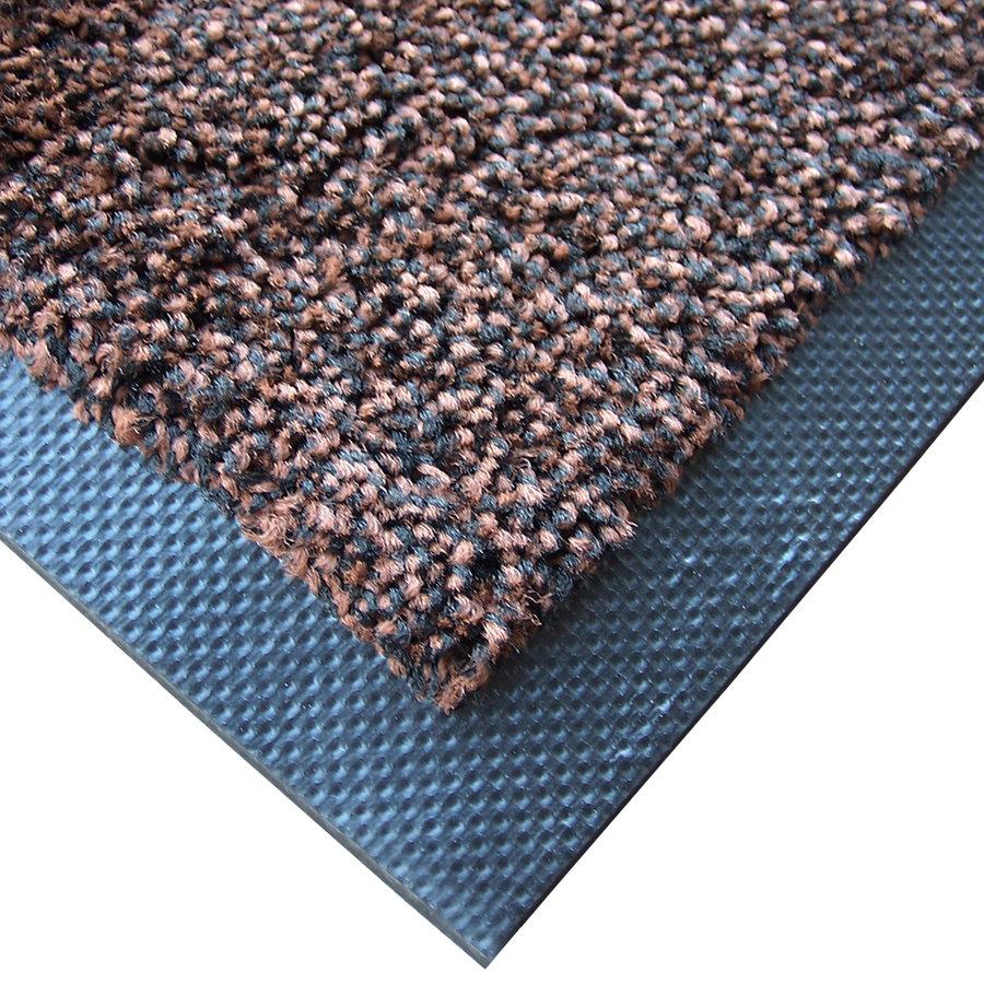 Hnědá textilní zátěžová čistící vnitřní vstupní rohož Magic - šířka 115 cm a výška 0,8 cm