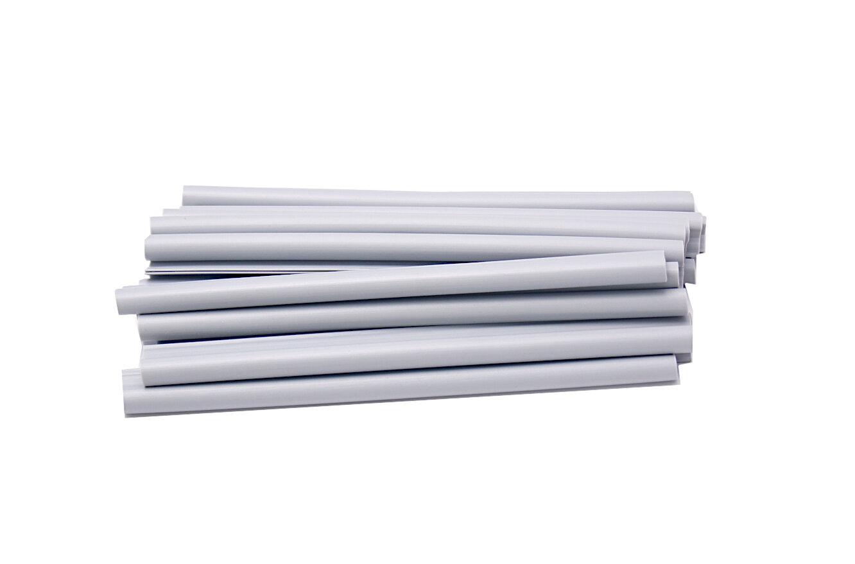 Světle šedý plastový plotový úchyt - délka 19 cm