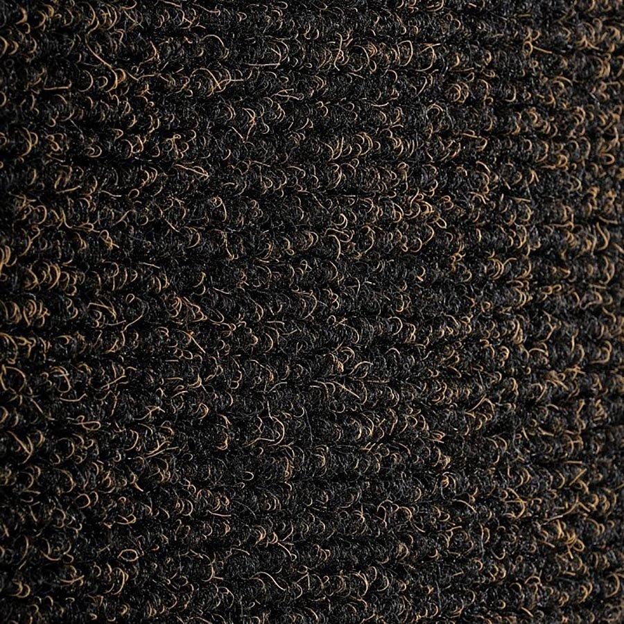 Černá textilní zátěžová čistící vnitřní vstupní rohož Catrine, FLOMA - délka 150 cm, šířka 100 cm a výška 1,35 cm