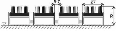 Šedá hliníková vstupní venkovní kartáčová rohož Alu Super, FLOMA - délka 100 cm, šířka 100 cm a výška 2,2 cm