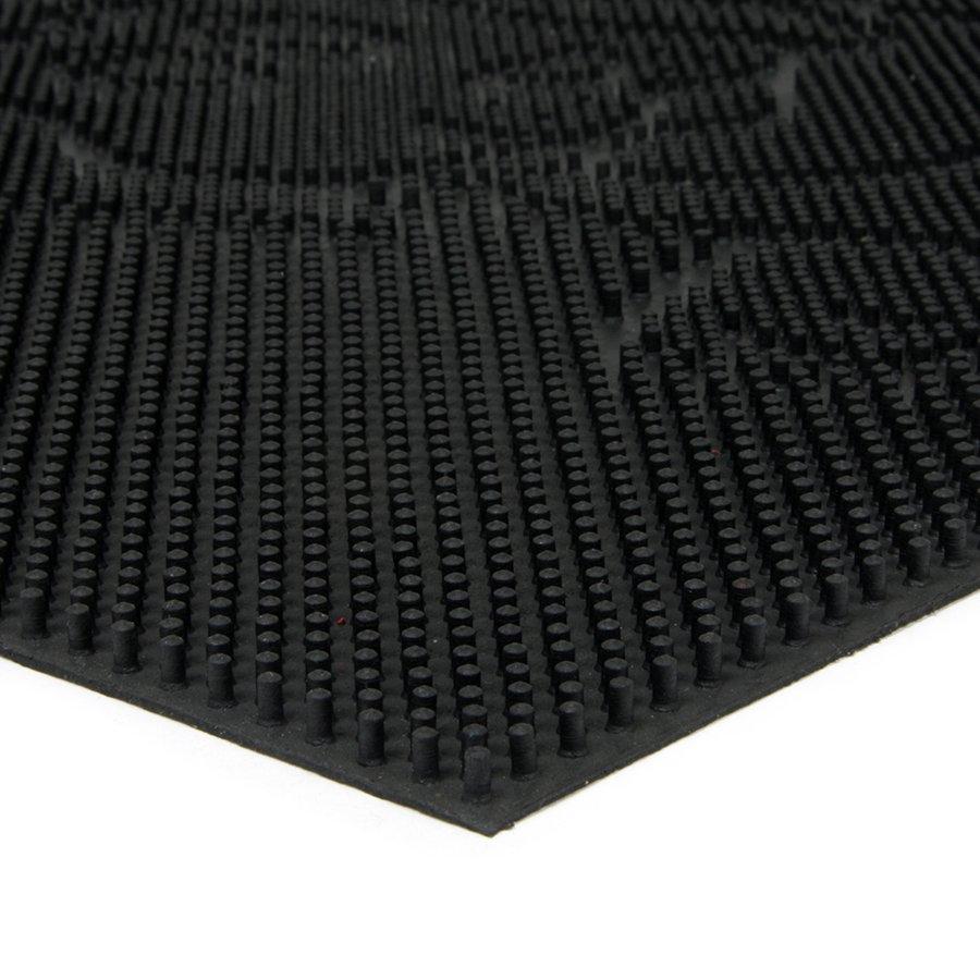 Gumová čistící venkovní vstupní rohož Dog, FLOMA - délka 40 cm, šířka 60 cm a výška 0,8 cm