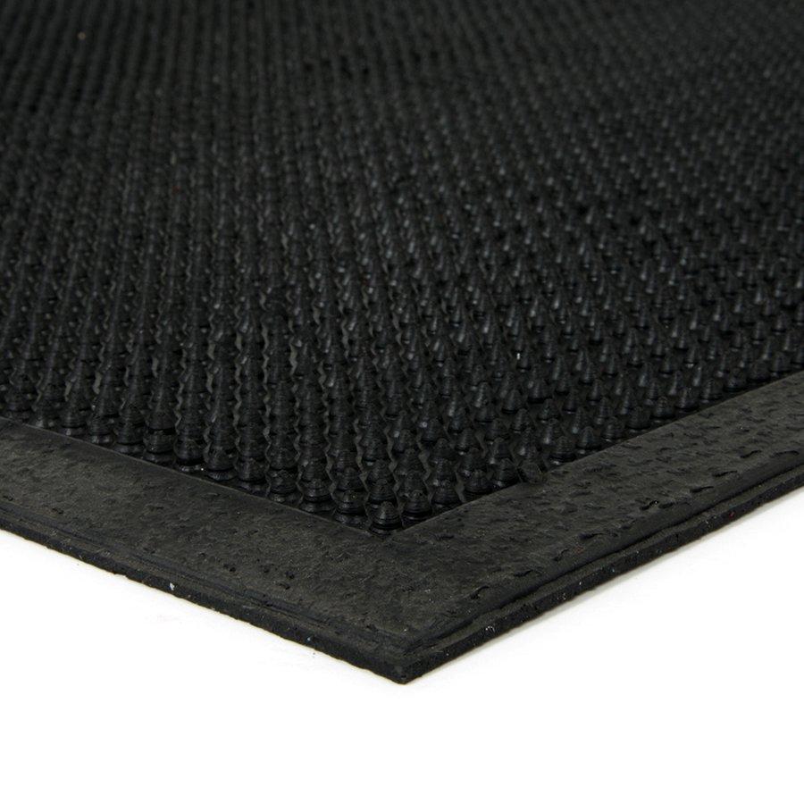 Gumová čistící venkovní vstupní rohož Rubber Brush, FLOMAT - délka 40 cm, šířka 60 cm a výška 0,6 cm