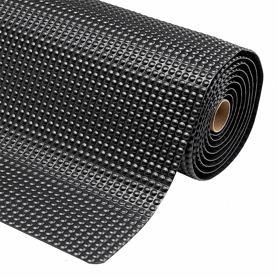 Černá protiúnavová průmyslová laminovaná rohož Sky Trax - výška 1,9 cm