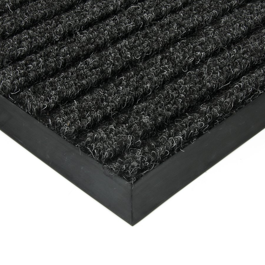Černá textilní vnitřní čistící zátěžová vstupní rohož FLOMA Shakira - délka 1 cm, šířka 1 cm a výška 1,6 cm