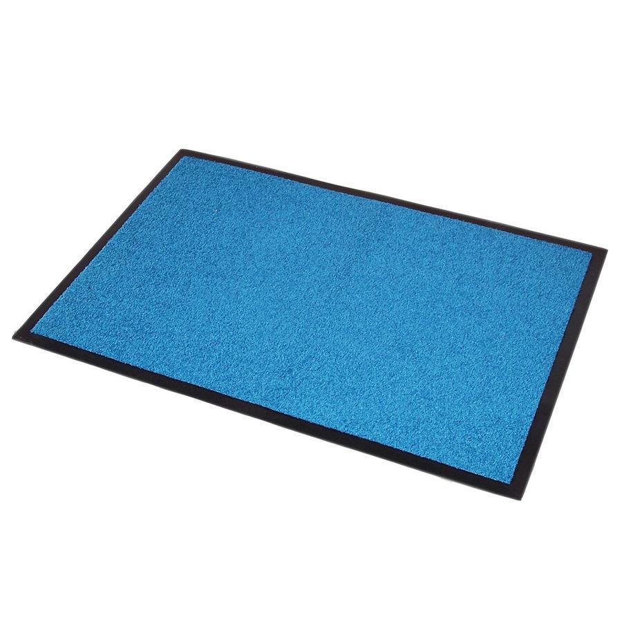 Modrá textilní vstupní vnitřní čistící rohož Twister - délka 60 cm, šířka 90 cm a výška 0,7 cm