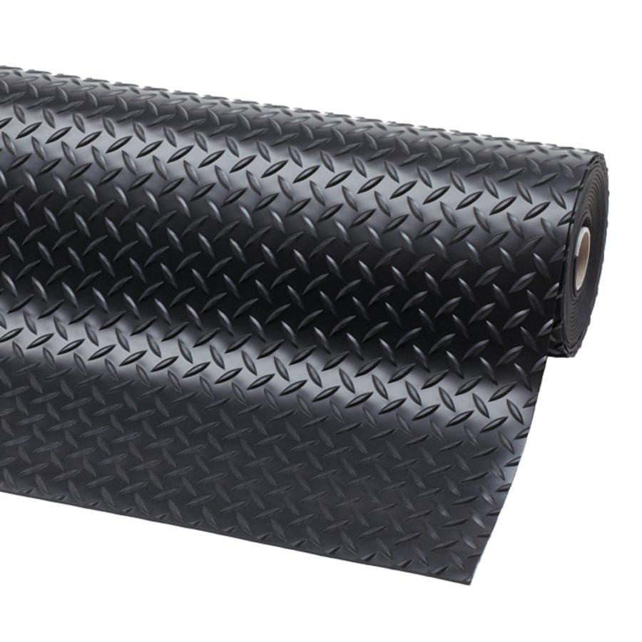 Černá protiskluzová rohož Diamond Plate Runner - výška 0,47 cm