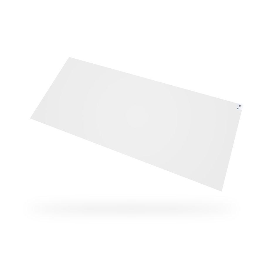 Bílá hygienická dezinfekční lepící rohož - délka 115 cm a výška 0,2 cm - 30 listů