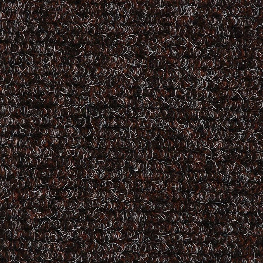 Tmavě hnědá textilní zátěžová čistící vnitřní vstupní rohož Catrine, FLOMA - délka 300 cm, šířka 200 cm a výška 1,35 cm