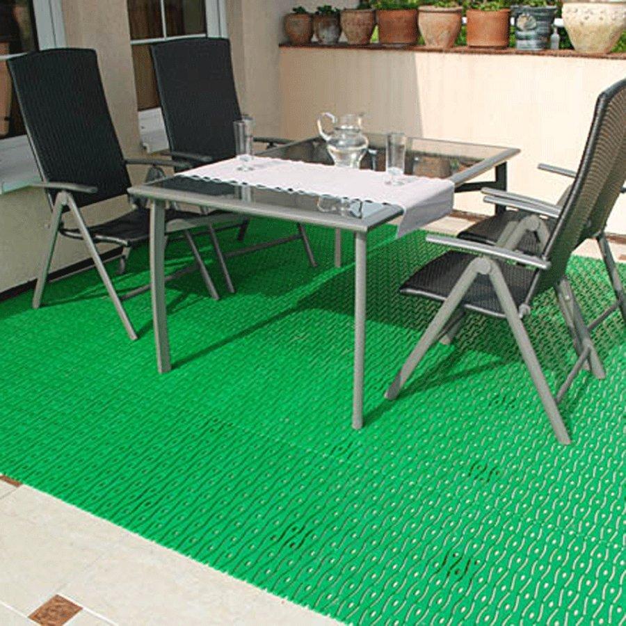Béžová plastová bazénová rohož - délka 12 m, šířka 60 cm a výška 0,8 cm