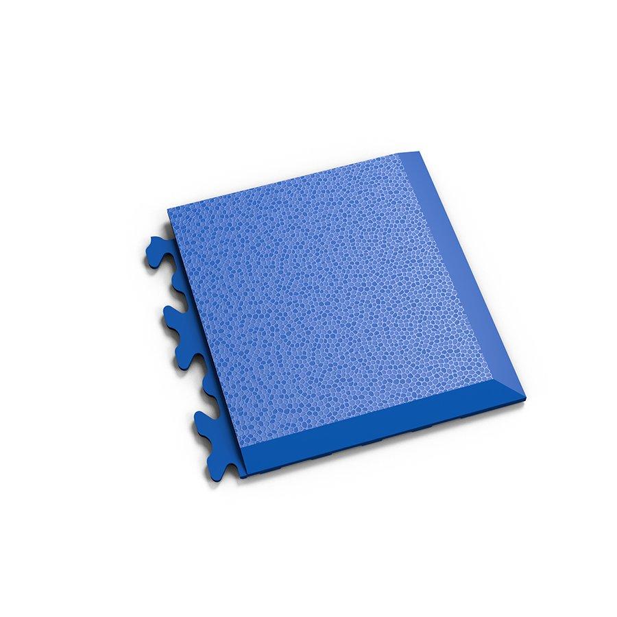 """Modrý vinylový plastový rohový nájezd """"typ D"""" Invisible 2039 (hadí kůže), Fortelock - délka 14,5 cm, šířka 14,5 cm a výška 0,67 cm"""