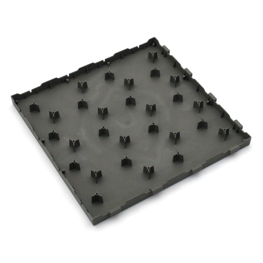 Šedá plastová terasová dlažba Linea Easy - délka 40 cm, šířka 40 cm a výška 2,65 cm