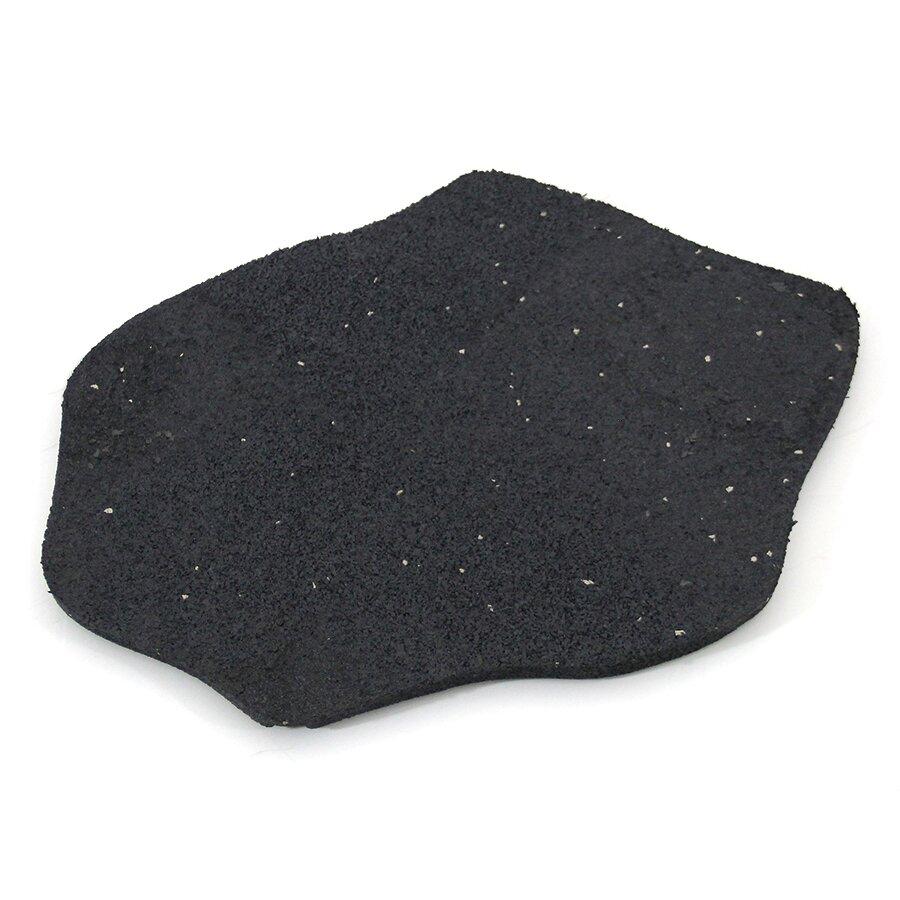 Šedý gumový zahradní nášlap (šlapák) FLOMA Stone - délka 51 cm, šířka 38 cm a výška 1,8 cm