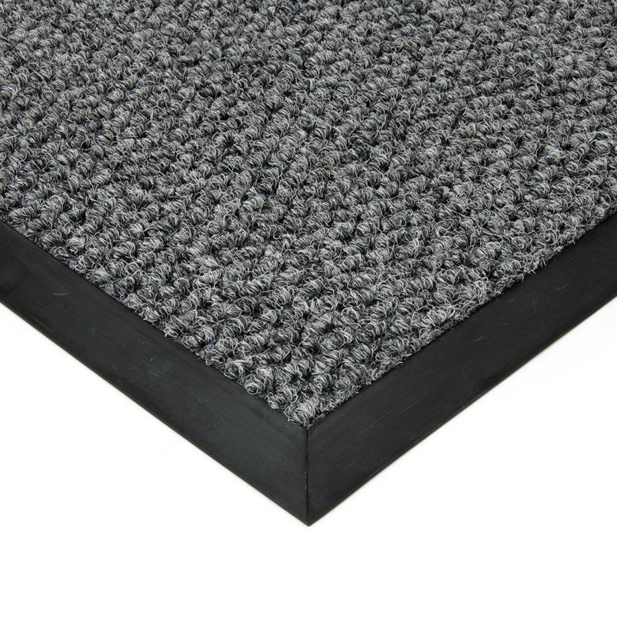 Šedá textilní zátěžová čistící vnitřní vstupní rohož Fiona, FLOMAT - výška 1,1 cm