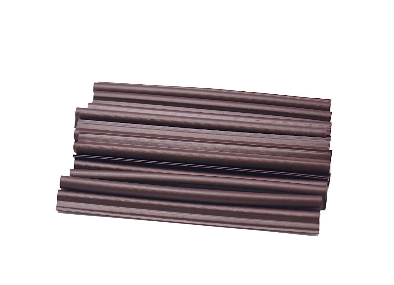 Hnědý plastový plotový úchyt - délka 19 cm