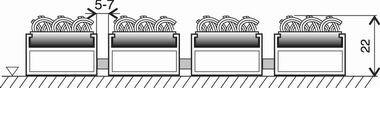Textilní hliníková vnitřní vstupní rohož Alu Standard, FLOMA - délka 100 cm, šířka 100 cm a výška 2,2 cm