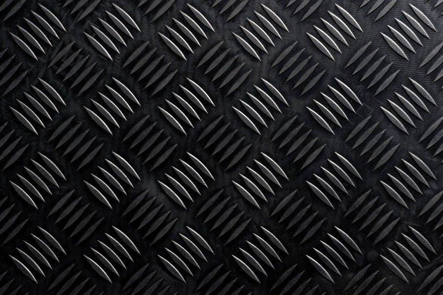Černá průmyslová protiskluzová podlahová guma FLOMA Delta - délka 10 m, šířka 150 cm a výška 0,3 cm