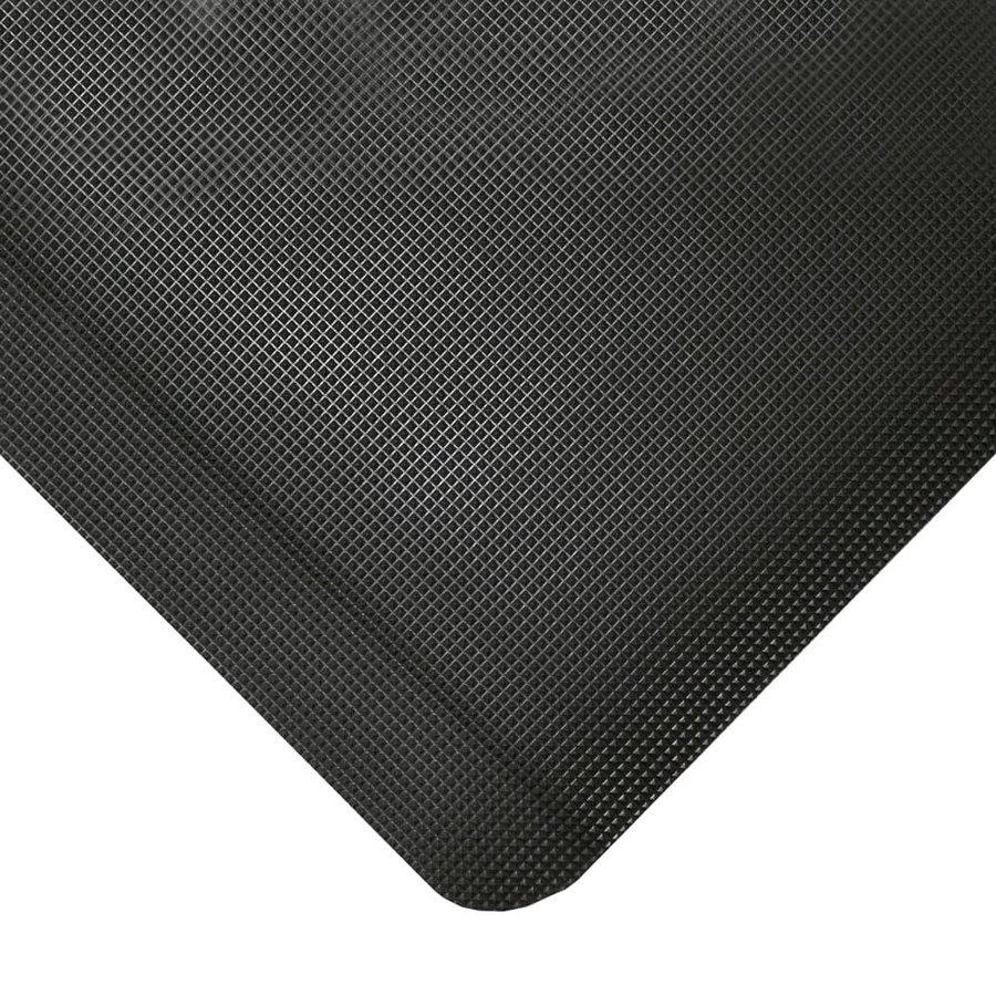 Černá protiskluzová průmyslová rohož pro svářeče - výška 1,25 cm