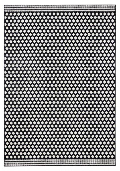 Černý moderní kusový koberec Capri - délka 140 cm a šířka 70 cm