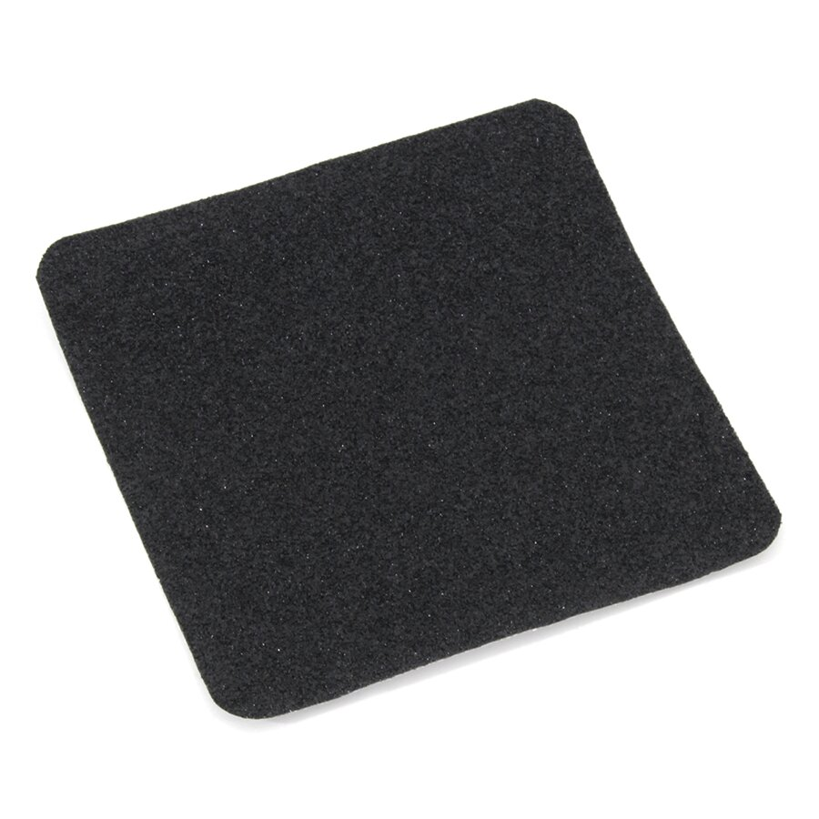 Černá korundová protiskluzová páska (dlaždice) FLOMA Super - délka 24 cm, šířka 24 cm a tloušťka 1 mm