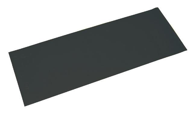 Černá gymnastická podložka na cvičení - délka 173 cm, šířka 61 cm a výška 0,4 cm