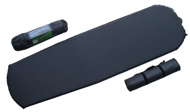 Šedá samonafukovací karimatka - délka 183 cm, šířka 51 cm a výška 2,5 cm