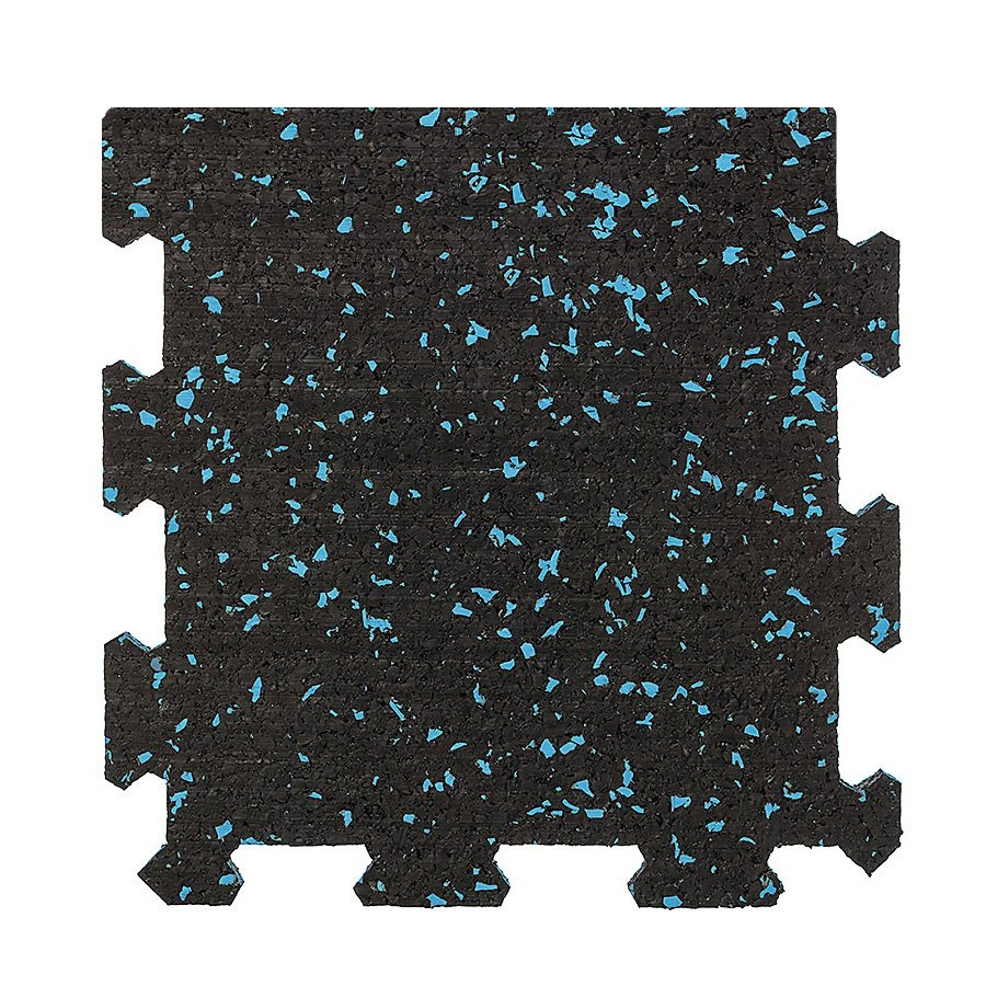 Různobarevná pryžová (10% EPDM PREMIUM) modulární deska (okraj) SF1100 - délka 95,6 cm, šířka 95,6 cm a výška 0,8 cm