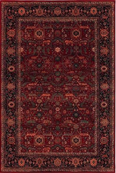 Červený orientální kusový koberec Kashqai - délka 390 cm a šířka 280 cm