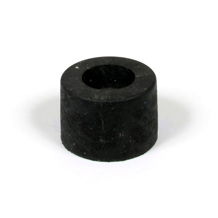 """Černá plastová koncovka pro silniční obrubníky """"samice"""" - délka 14,5 cm, šířka 14,5 cm a výška 10 cm"""