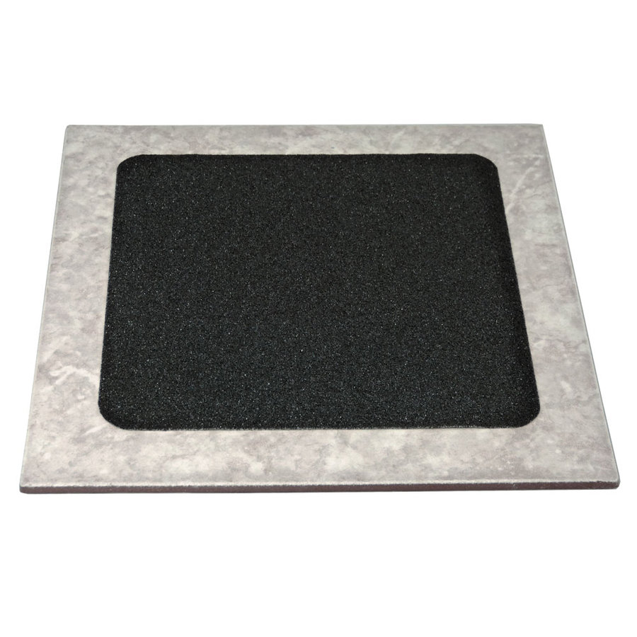 Černá korundová protiskluzová samolepící podlahová páska (dlaždice) - délka 24 cm a šířka 24 cm