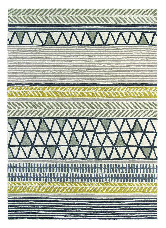 Různobarevný kusový moderní koberec Raita