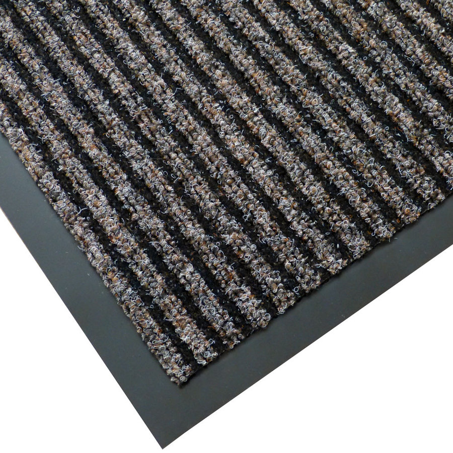 Hnědá textilní čistící vnitřní vstupní rohož Prisma - délka 80 cm a šířka 120 cm