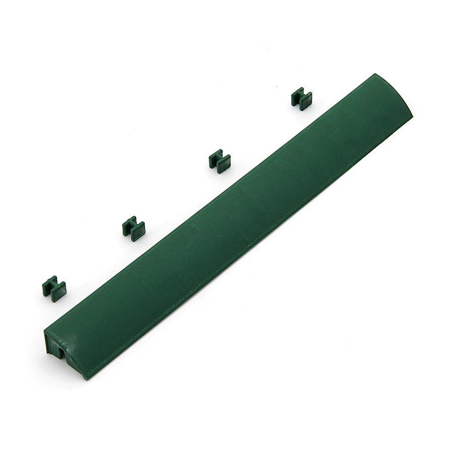 Zelený plastový nájezd pro terasové dlaždice Linea Easy - délka 39 cm, šířka 4,5 cm a výška 2,5 cm