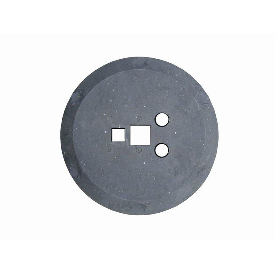 Černý plastový kulatý podstavec pod dopravní značky - průměr 49 cm a výška 12 cm